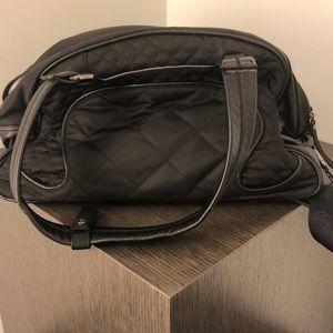 lululemon athletica Bags - Lululemon black strap duffel bag O/S